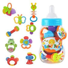 Image is loading 0-3-Months-Old-Toy-6-9-12- 0-3 Months Old Toy 6 9 12 Baby Infant Newborn Rattle Teether Shaker