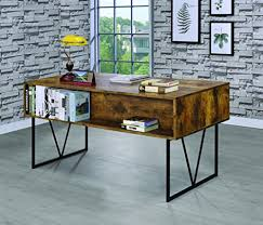 home office furniture indianapolis industrial furniture. Amazon.com: Coaster Analiese Industrial Antique Nutmeg Writing Desk With Four Drawers: Kitchen \u0026 Dining Home Office Furniture Indianapolis