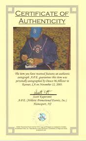 Sports Memorablilia Authentication Process Sports Collectibles And