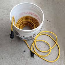 extension cord built into a bucket construction pro tips