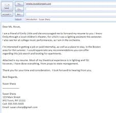 Email Sample For Job Best Formats For Sending Job Search Emails Job Cover