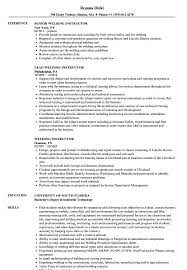 Welding Instructor Resume Samples Velvet Jobs