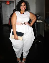 white jumpsuit plus size plus size runway garnerstyle