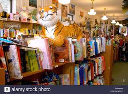 Tiger guarding entrance Wild Rumpus Childrens Bookstore