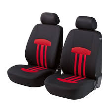 car seat cover kent zipp it 2pcs red black