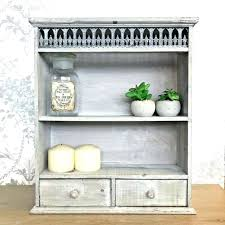 grey wall shelves shabby chic unit shelf display storage cabinet french vintage style box grey wall shelves shelf canada