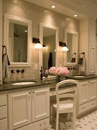 interior bathroom vanity lighting ideas. Example Of A Classic Bathroom Design In New York Interior Vanity Lighting Ideas