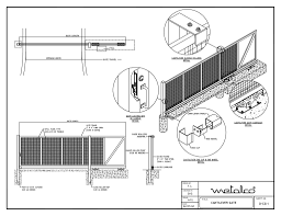 fence drawing. CANTILEVER GATE-Model-001-001 Fence Drawing