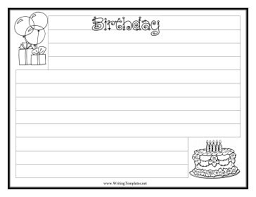 best writing templates images leaves preschool  birthday writing template writing template to and print