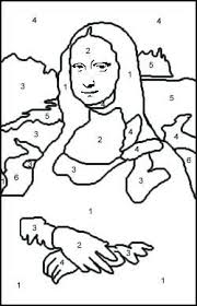 Paint By Numbers Mona Lisa Coloring Pages Mona Lisa Kleurplaten