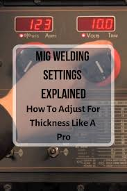 Mig Welding Settings Explained Wire Speed Voltage Chart