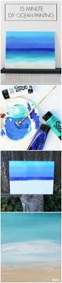 diy painting 15 minute ocean scene darice easy canvas