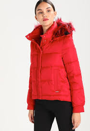 intricate jacket guess red esmeralda winter tulip for women