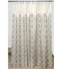 bedazzled gray damask polyester shower curtain