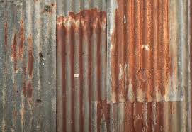 metal wall texture. Rusty Corrugated Metal Wall Texture Background Vinyl Wall Mural - Heavy  Industry