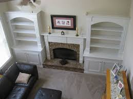 built in bookcases around fireplace diy added built in bookshelves around a home