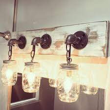 homemade lighting ideas. Handmade Unique In Any Way White Washed 3 Mason Jar Light Pertaining To Fixtures Homemade Lighting Ideas