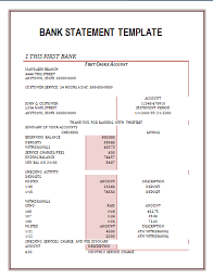 Sample Bank Statements Template Bank Statement Template Wordstemplates Pinterest Statement