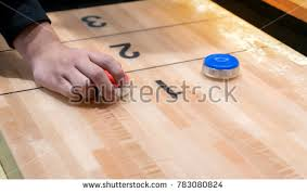 Dutch Game With Wooden Discs Shuffleboard Stock Images RoyaltyFree Images Vectors 40