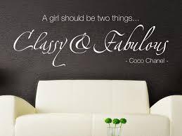 Wandtattoo A Girl Shoud Be 2 Things Classy Fabulous Klebeheldde
