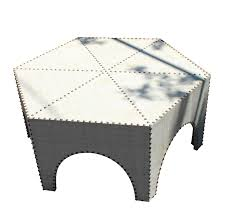 Grasscloth Coffee Table Moroccan Style Grasscloth Coffee Table Chairish