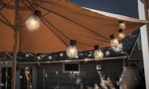 solar patio string lights. Unique Lights Touch Of Eco Socialite 20u0027 Solar Patio Edison LED String Lights With O