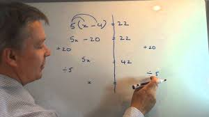 how to solve linear equations with brackets