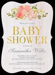 Decorative Woodgrain 5x7 Baby Shower Invitation Cards Shutterfly