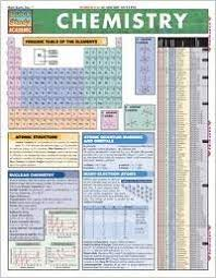 Chemistry Laminate Reference Chart Quickstudy Academic
