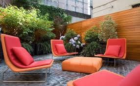 choose stylish furniture small. Patio, Paver Cheap Patio Floor Ideas With Colorful Chairs Small Pillows And Square Table: Choose Stylish Furniture I