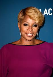 mary j blige short cut with bangs mary j blige short hairstyles looks stylebistro