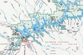 Map Of Lake Powell Arizona Carte Du Lac Powell Utah