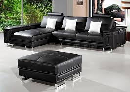 Incredible Black Leather Ottoman Elegant Black Leather Ottoman Modern Home  Interiors Good Looking