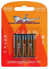 <b>AIRLINE</b> AAA04 <b>Батарейки</b> LR03/<b>AAA</b> щелочные 4 шт. блистер ...
