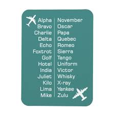The nato phonetic alphabet* is the most widely used worldwide but we've also included some earlier british. Phonetic Alphabet Reminder With Aeroplanes Magnet Zazzle Com