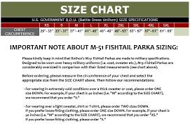 Rothco Pants Size Chart Rothco M 51 Fishtail Parka Woodland Camo