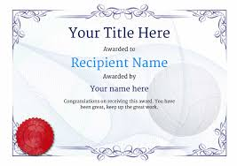 Most Likely To Award Template Free Volleyball Certificate Templates Add Printable Badges