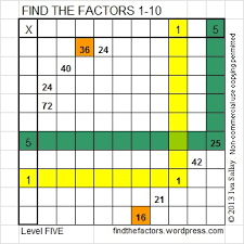 How To Solve A Find The Factors Puzzle Find The Factors