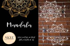 This is a printable cut file compatible with cricut this listing includes a zip folder containing the following files: Mandala Svg Bundle Split Mandala Half Graphic By Alyviaskye Creative Fabrica