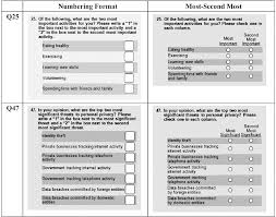 Surveys Formats Pdf Comparing Survey Ranking Question Formats In Mail