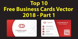 10 Free Business Cards Top 10 Free Business Cards Vector 2018 Free Download