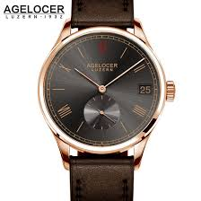 online buy whole watch fossil from watch fossil luxury agelocer wristwatch brand mechanical role watch gold plated self winding military fossiler automatic auto