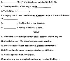 Cbse Class 11 Phsycology Sample Paper Set A