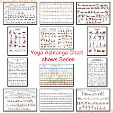 Us 1 98 27 Off Yoga Ashtanga Chart Poster Gym Bodybuilding Exercise Posters And Prints Canvas Painting Wall Art For Living Room Home Decor In