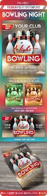 Bowling Event Flyer Bowling Night Flyer Psd Template