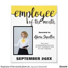 Emploee Of The Month Employee Of The Month Photo Award Certificate Zazzle Com