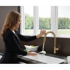 Delta Pull Down Kitchen Faucet Single Handle Pull Down Kitchen Faucet Featuring Touch20