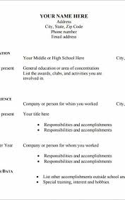 Free Blank Resume Amazing Free Blank Resumes Simple Resume Examples For Jobs