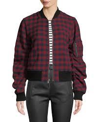 a l c andrew plaid wool er jacket
