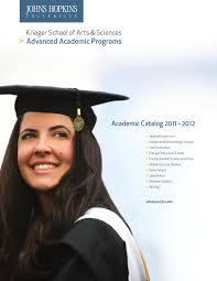 Johns Hopkins University Advanced Academic Programs 2011 12